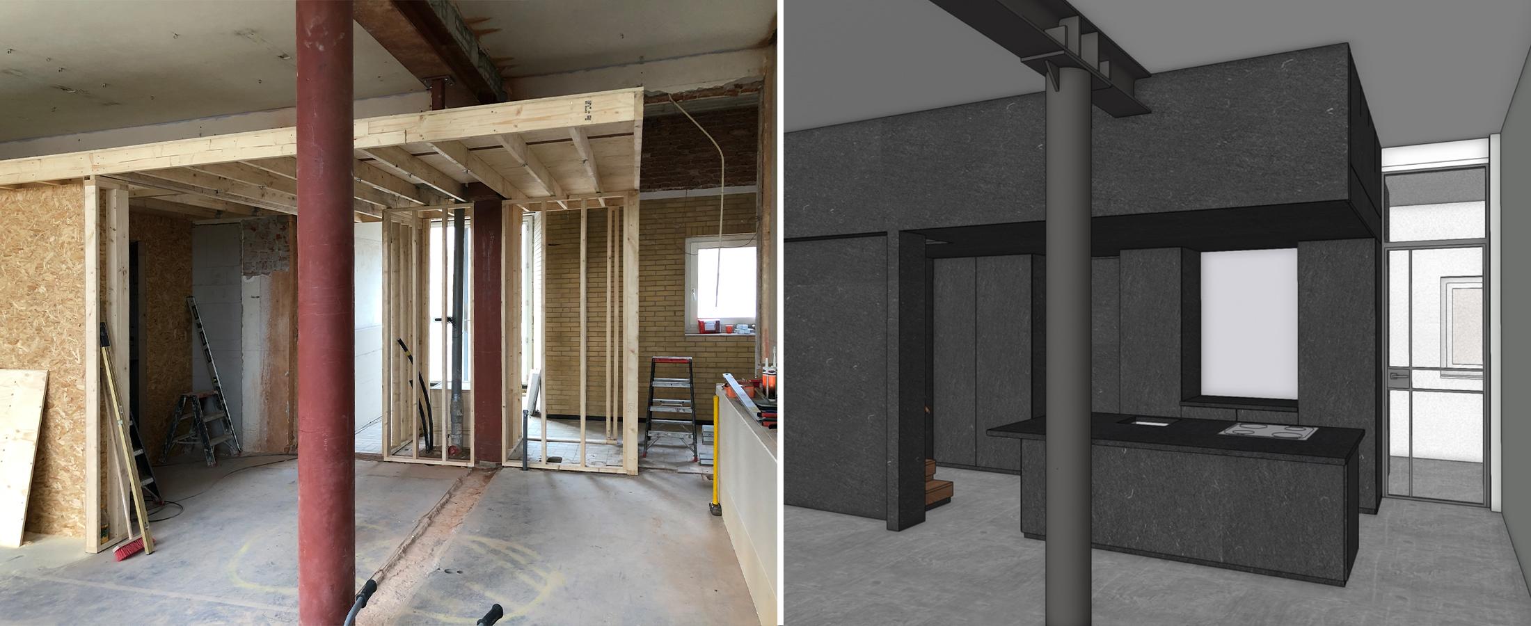 Uitvoering loft in Nijverheidsschool Leiden gestart